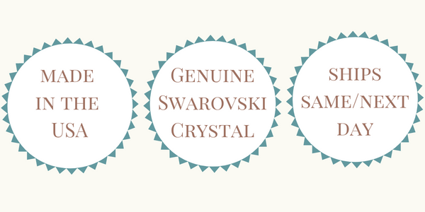 Made in the USA - Genuine Swarovski Crystal - Ships Same or Next Day
