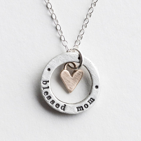 Blessed Mom Mother's Day Necklace
