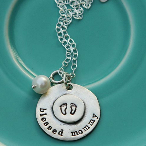 Blessed Mommy Mother's Day Necklace