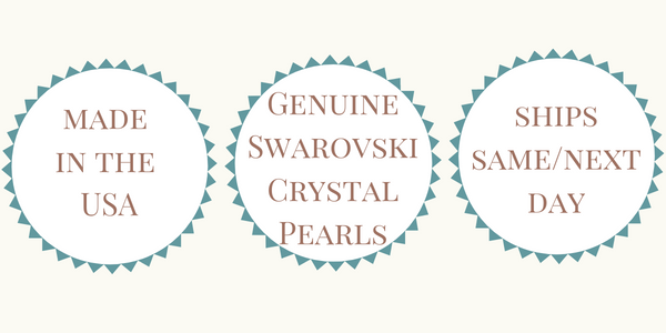Made in the USA - Genuine Swarovski Crystal Pearl - Ships Same or Next Day