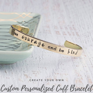 Create Your Own Custom Personalized Cuff Bracelet