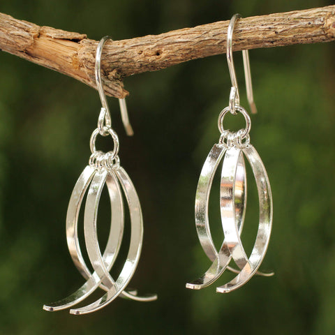 Sterling Silver Ichthys Fish Earrings