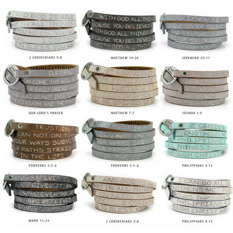 Good Works Make a Difference Wrap Bracelets