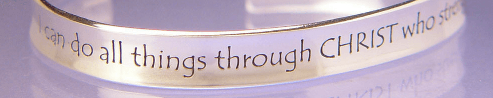 Inspirational Christian Jewelry Engraved with Scripture and Prayer