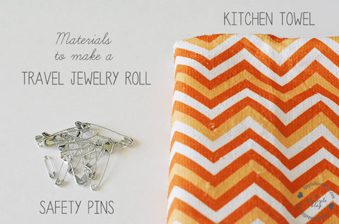 How to make a jewelry roll - Easy no sew