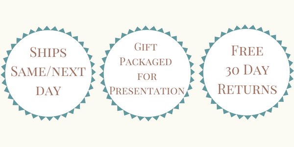 Ships Same or Next Day - Gift Packaged for Presentation - Free 30 Day Returns