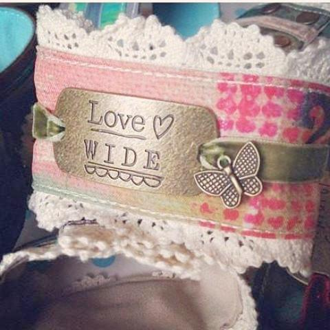 Love Wide Cuff Bracelet Kelly Rae Roberts