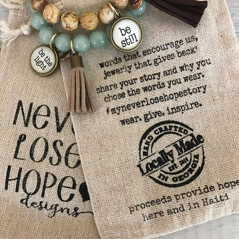 Never Lose Hope Stone Bracelets