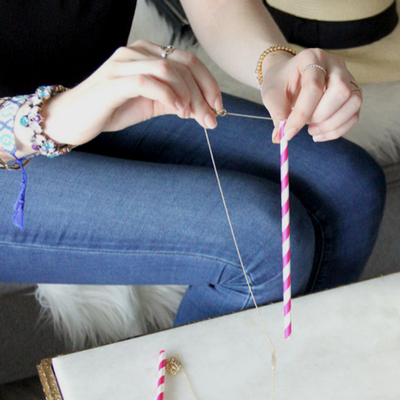 Packing Necklaces for Travel with Straws