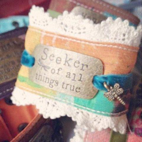 Seeker of All Things True Kelly Rae Roberts Cuff Bracelet