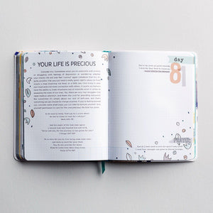 100 Days of Less Hustle More Jesus Guided Christian Devotional Journal | Shanna Noel