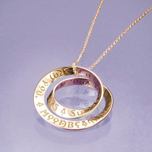 14k Gold Irish Blessing Double Mobius Necklace