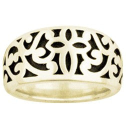 14k Gold Ladies Faith-Based Christian Ring | Ivy Cross