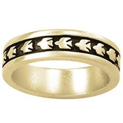 14k Gold Ladies Christian Ring | Raised Dove