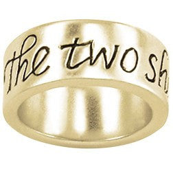 14k Gold Ladies Faith-Based Christian Ring | The Two Shall Be One