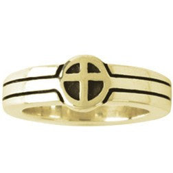 14k Gold Ladies' Christian Wedding Ring | Cross | They Became One