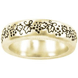 14k Gold Ladies Faith-Based Christian Ring | Vines | John 15