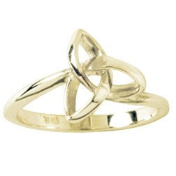 14k Gold Ladies Ring | Triquetra Holy Trinity