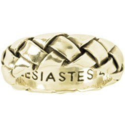 14k Gold Mens Christian Ring Woven Together Ecclesiastes 412