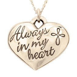 14k Gold Heart Cross Necklace | Always in My Heart