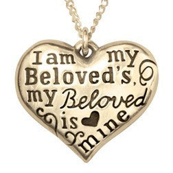 14k Gold Scripture Verse Necklace | I Am My Beloved's, and My Beloved Is Mine