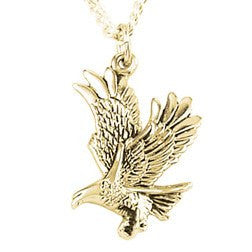 14k Gold Eagle Pendant Necklace
