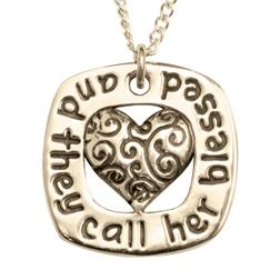 14k Gold Proverbs 31 Pendant Necklace | And They Call Her Blessed