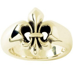 14k Gold Ladies Faith-Based Christian Ring | Fleur de Lis