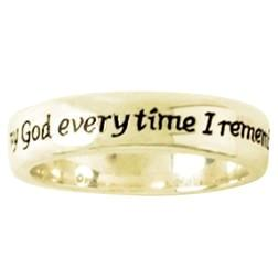14k Gold Ladies Ring | Remembrance | Scripture Verse Philippians 1:3