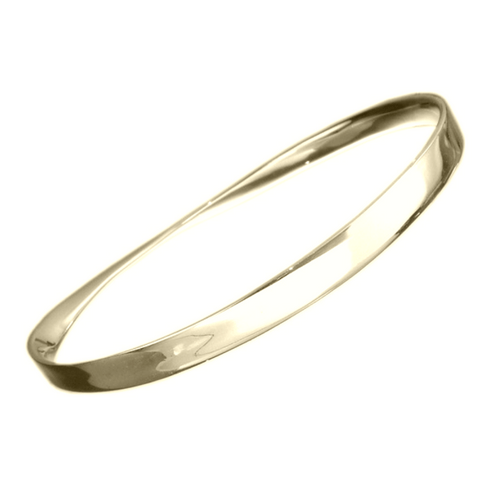 14k Mobius Bangle Bracelet for Personalized Hand Engraving