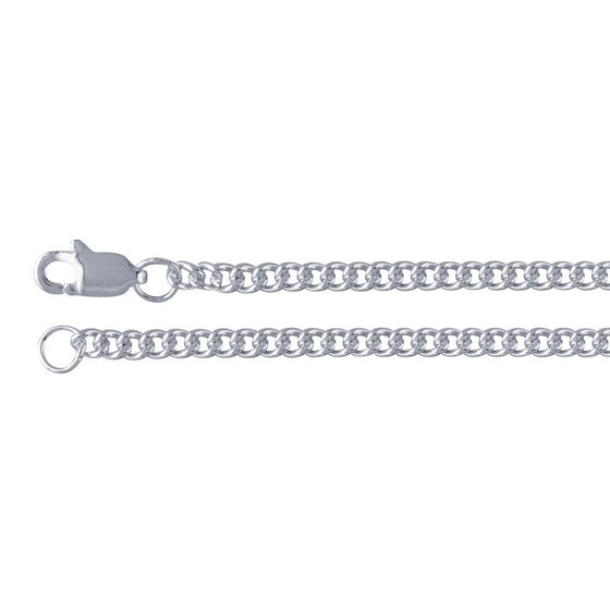 "24"" Sterling Silver Curb Chain"