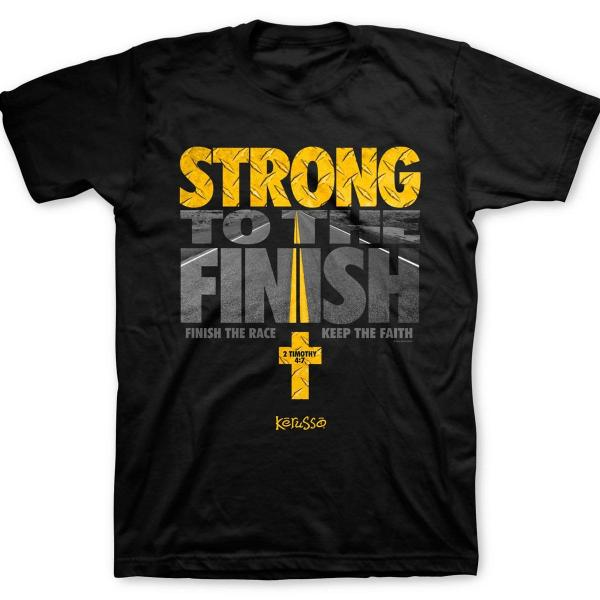 Strong to the Finish Christian T-Shirt - Clothed with Truth