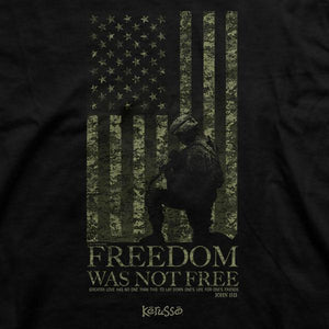 Kerusso Christian Shirt | Freedom Was Not Free | John 15:13
