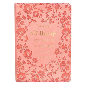 All Things For The Good LuxLeather Christian Journal | Romans 8:28