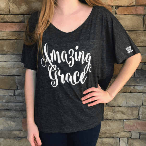 Amazing Grace Christian T-Shirt | Scoop Neck
