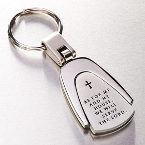 """As for Me and My House"" Engraved Scripture Verse Keyring"