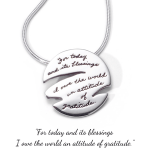 Attitude of Gratitude Sterling Silver Necklace | BB Becker