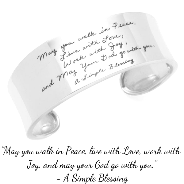Blessing Prayer Jewelry   Sterling Silver & 14k Gold   Made