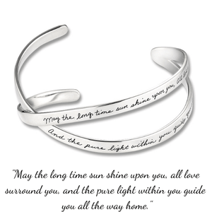 BB Becker Sterling Silver Blessing Cuff Bracelet | Long Time Sun