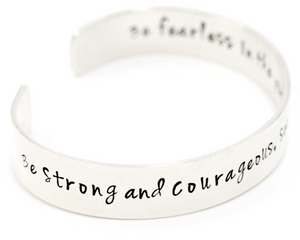 "Sterling Silver Hand-Stamped 1/2"" Cuff Bracelet 