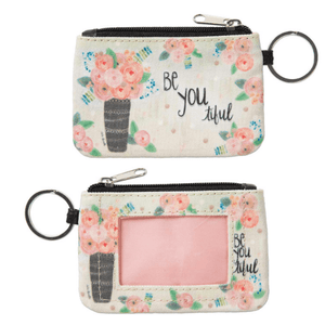 Be You-ti-ful ID Wallet Coin Purse Keychain
