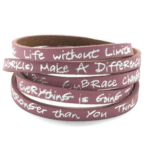 Believe You Can Accomplish Anything Genuine Leather Wrap Bracelet | Good Works Make a Difference
