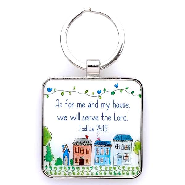 Faith-Based Scripture Verse Keyring | Bless Our Home | Joshua 24:15