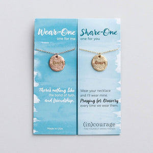 Brave (In) Courage Necklace Set | Wear One Share One | 1 John 3:16