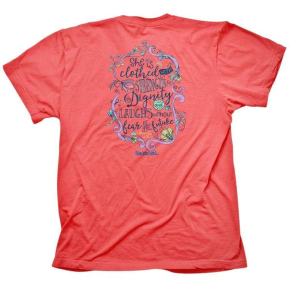 Cherished Girl Christian T-Shirt |Strength and Dignity | Proverbs 31