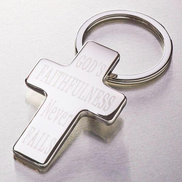 """God's Faithfulness Never Fails"" Cross Keyring"