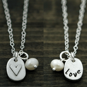 The Vintage Pearl Necklace | Love Bears All Things | Double Sided