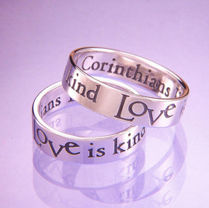 Sterling Silver Ladies' 1 Corinthians 13 Ring | Love is Kind
