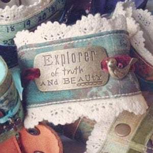 Explorer of Truth and Beauty Cuff Bracelet | Kelly Rae Roberts