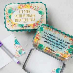 Let Your Faith Be Bigger Than Your Fear Natural Life Prayer Box